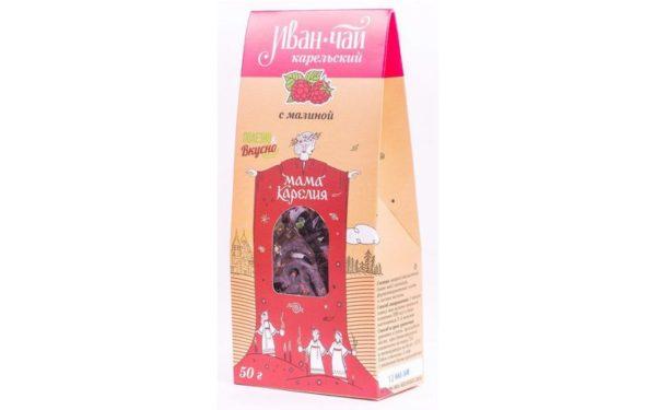 «Иван-чай Карельский» с ягодами и листом малины 50 г.