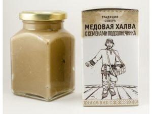 Медовая халва (перетертые семена подсолнечника, мед), 300 г.