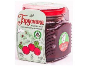 Варенье «Брусника карельская» с сосновой почкой 250 г. стеклянная банка